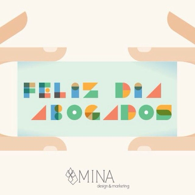 Feliz día del abogado les desea Mina Design and Marketing! #diadelabogado