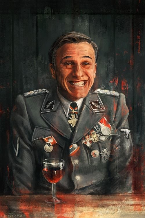 Inglourious Basterds (2009). Hans Landa. Look out for yourself. Hold your power talk till they fear it. Predator. Vulgar humour.