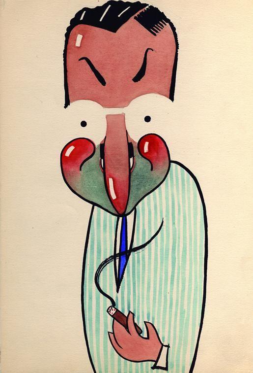 'Caricaturas', by Alejandro de la Sota.