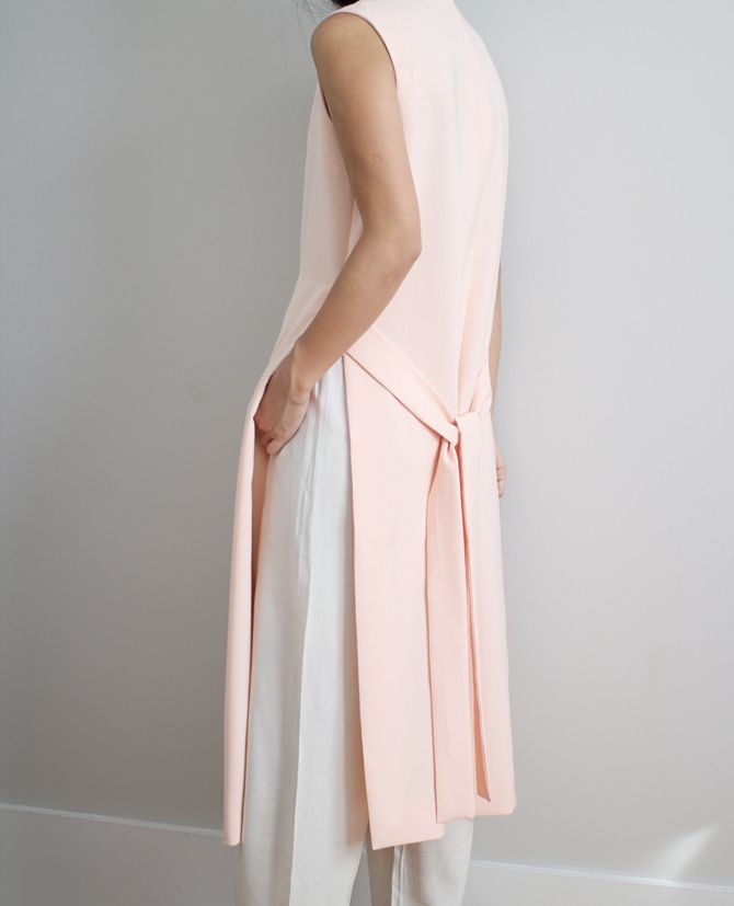 pink apron dress   @andwhatelse