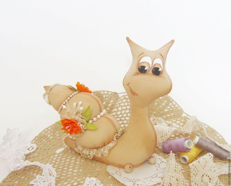 Купить Улитка на удачу - бежевый, улитка ручной работы, улитка, улитка в подарок, интерьерная игрушка