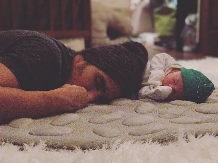 One of our newest little Nook fans.  Thanks for sharing @vegaalexa and @therealcarlospena . #repost @oceankingpenavega . Long day setting up the nursery... #passedout