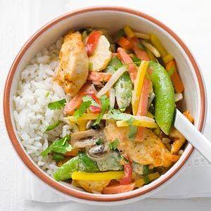 Recept - Thaise kipfilet met wokgroenten - Allerhande
