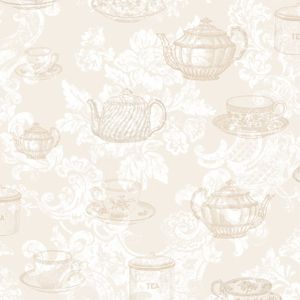 Coloroll Teacups Wallpaper - Cream