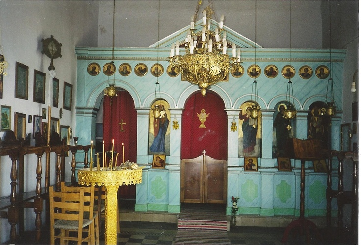 Inside the little church in the mountains of Karystos