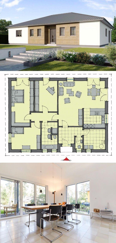 Fertighaus Bungalow Mit Walmdach Architektur & Holz Putz