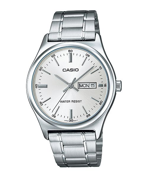 Casio Quartz Analog Day Date Stainless Steel Watch# MTP-V003D-7A (Men Watch)