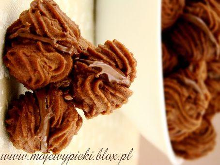 Moje Wypieki | Kruche czekoladowe ciasteczka z nutellą