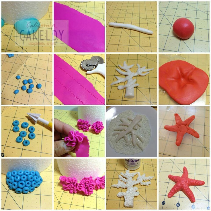 Coral and star fish tutorial. Apologia Zoology 2 swimming creatures diorama.