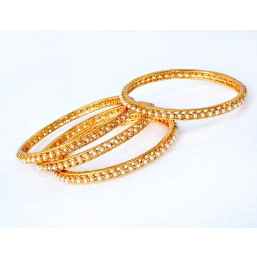 Traditional Pearl Four Bangles