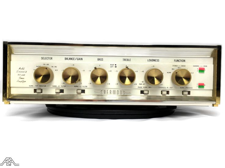The completely retro Sherwood S 5000-II tube amplifier. www.aeaaudio.com #audiophile #tubeamp