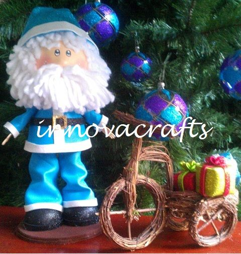fofucho Santa Claus. muñecos hechos de fomi/goma eva/ foamy