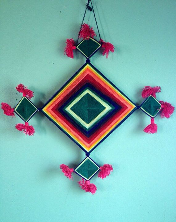 Diy inspiration Vintage Huichol Indian Ojo de Dios Gods eye by Yeoldcuriosityshop, $49.00
