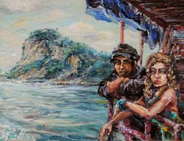"""Saatchi Art Artist Natallia Savitskaya; Painting, """"Ciao Amore Mio!"""" #art"""