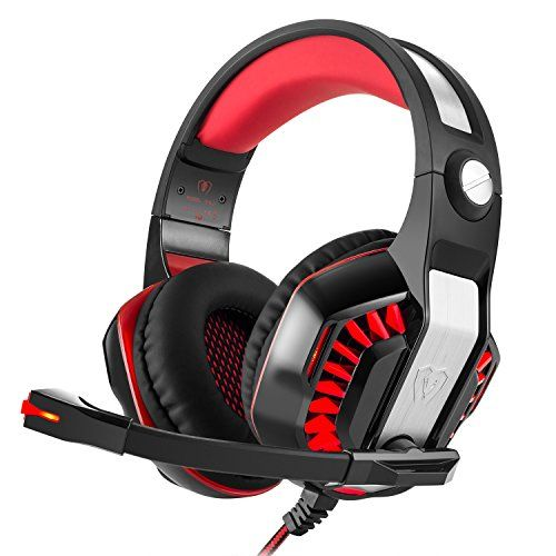 Beexcellent Gaming Headset with Microphone For PS4Xbox OnePCLaptopCellphonePC With A free Y Splitter Red >>> Continue to the product at the image link.Note:It is affiliate link to Amazon.