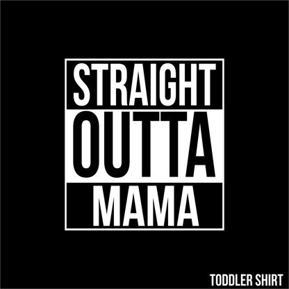 CARPY'S STRAIT OUTTA MAMA (TEE) Coming strait outta Mama, you can't get more O.G then this adorable new toddler shirt from Carpy's. #toddle #cute #parody #compton #NWA #momlife