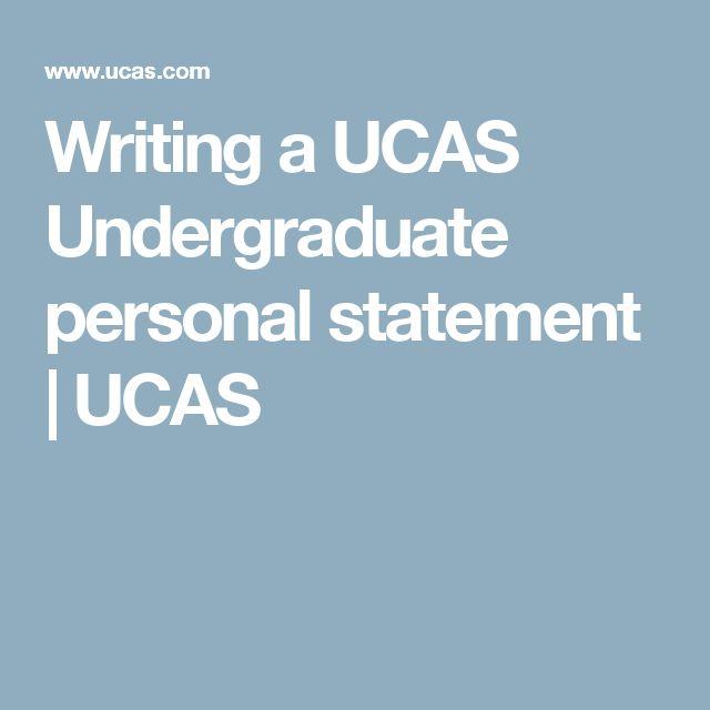 UCAS Undergraduate personal statement