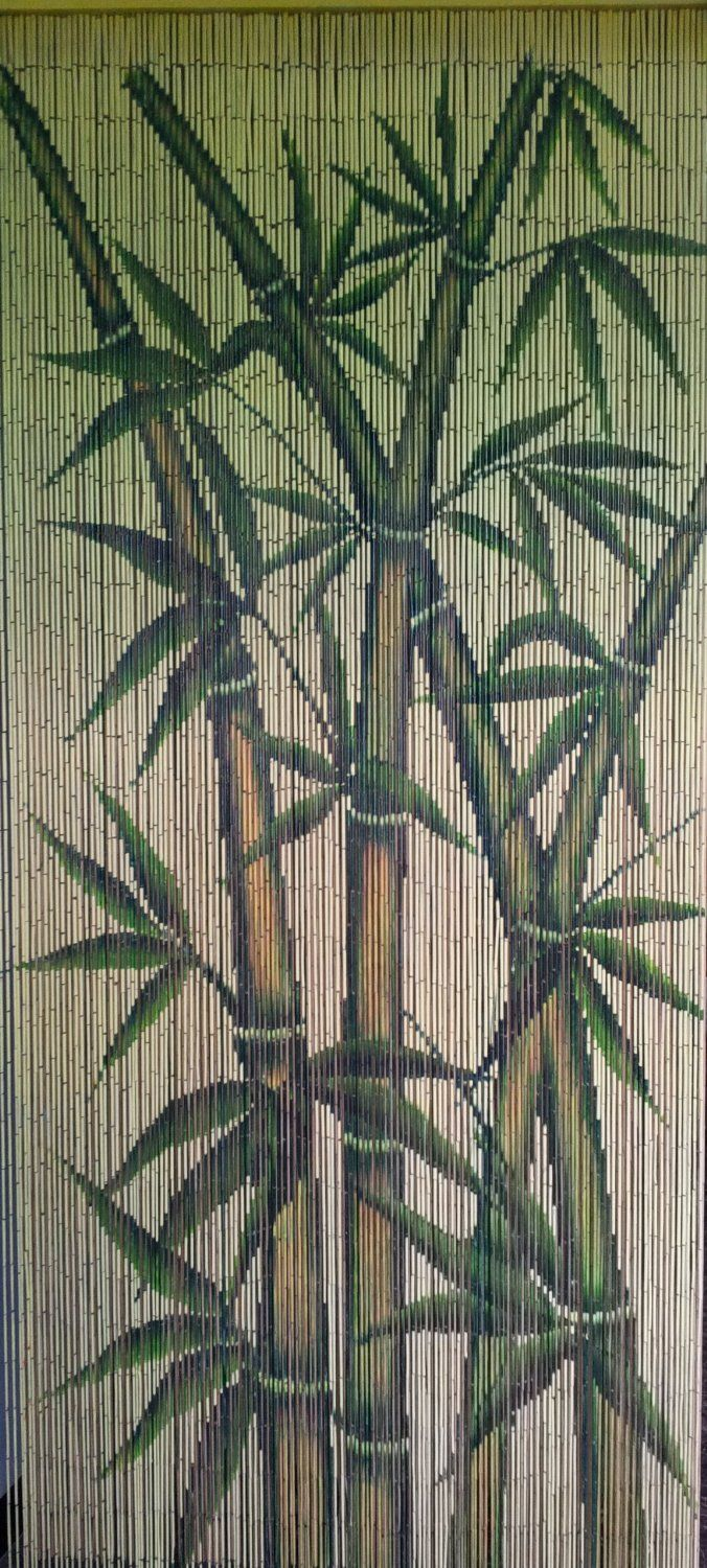 tropical bamboo stalks beaded curtain 125