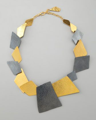 Angular Square Necklace by Herve Van Der Straeten at Bergdorf Goodman.