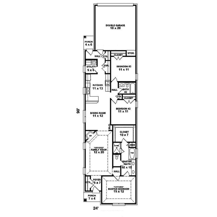 Best 25 narrow house plans ideas that you will like on pinterest small open floor house plans - Narrow house plan paint ...