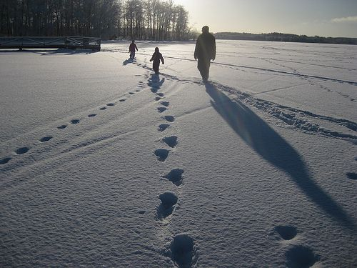 Walking on waters at Lohja. Photo by Petra