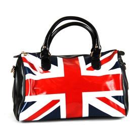 Sac en similicuir avec drapeau anglais noir Orella
