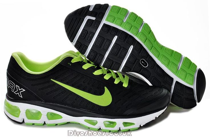 New Fashion Nike Air Max Tailwind +5 Men Black/Green Shoes is offering you
