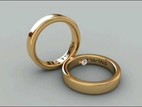 Twins Diamonds - Dos diamantes gemelos unidos en tus alianzas de boda
