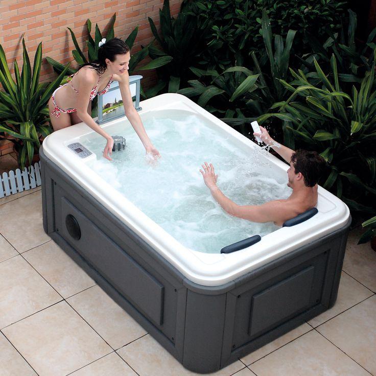 17 best ideas about whirlpool tub on pinterest whirlpool bathtub bathtub surround and windows - Whirlpool outdoor 2 personen ...