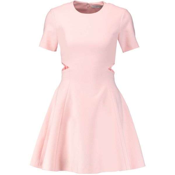 Elizabeth and James Leonie cutout ponte mini dress found on Polyvore featuring dresses, pastel pink, fitted dresses, cutout dresses, short cocktail dresses, side cut out dress and side cut-out dresses