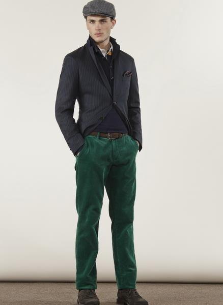 Мужские зеленые брюки