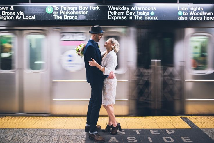 Real Wedding: NYC Elopement With a Katz's Deli Reception for Two