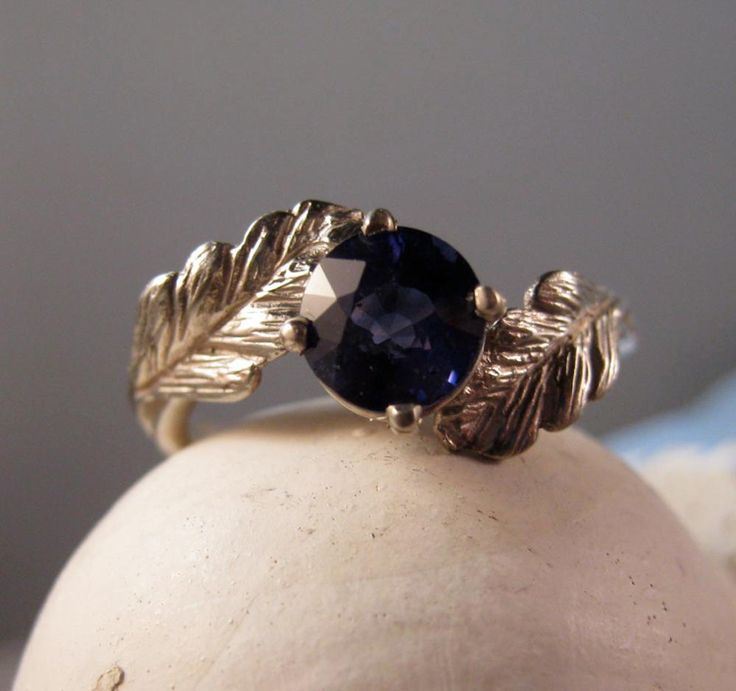 14k gold Wax cast Engagement ring Leaf Ring - Wiccan forest. $640.00, via Etsy.