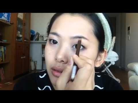 一重まぶたのナチュラルメイク  how to my natural make up - YouTube