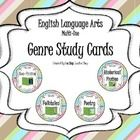 These Reading Genre Study Cards help teach students the various genres including Fiction, Non-Fiction, Biography, Autobiography, etc... awesome resource for guided reading!