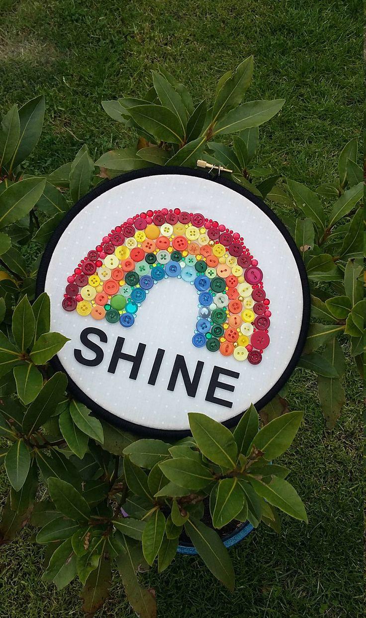 Rainbow button art by ThinkSleepy on Etsy