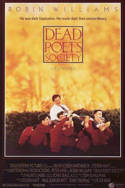 """1989 - """"Sociedade dos Poetas Mortos"""" - El club de los poetas muertos (Dead Poets Society) - Peter Weir."""