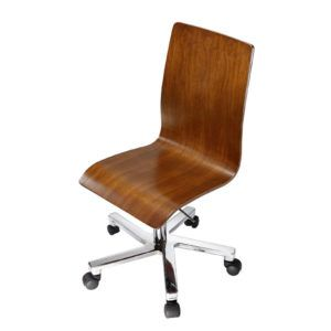 Armless Ergonomic Wooden Office Chair
