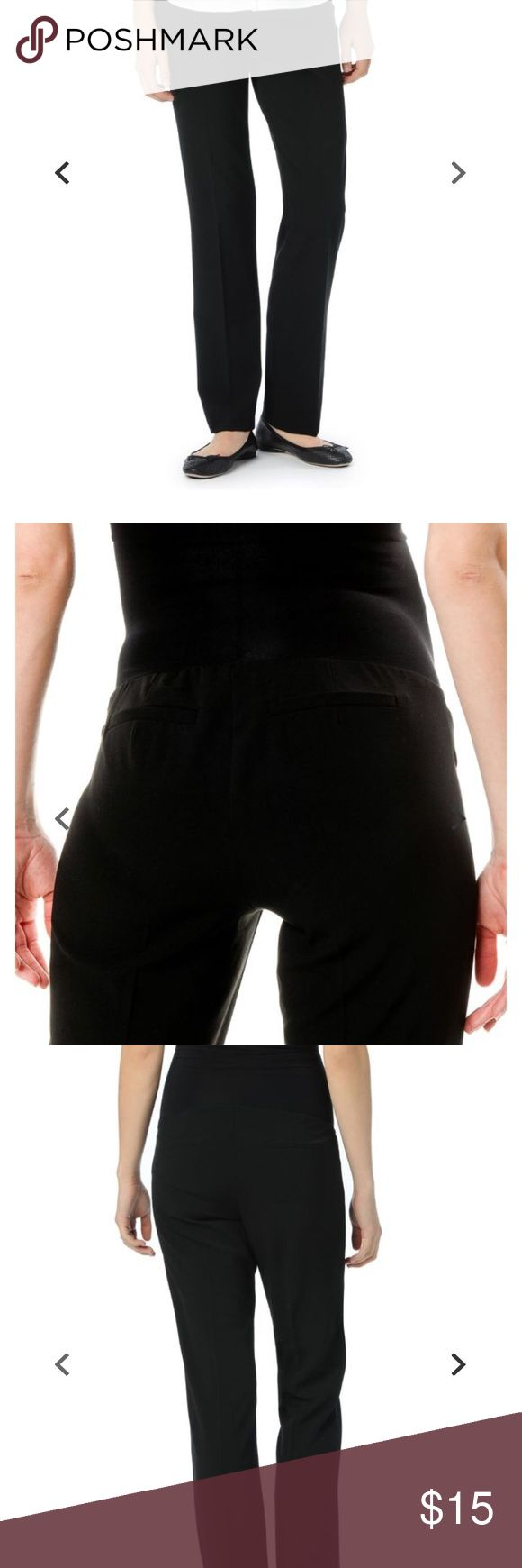 Maternity suit pants Black maternity suit pants. Super stretchy and comfortable for all day wear. Straight leg. Faux pockets. Motherhood Maternity Pants