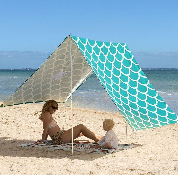 #limetreekids Beach Sombrilla - Aqua Shells
