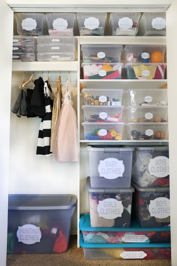 How to Organize a Kids Closet Kid closet, Toy