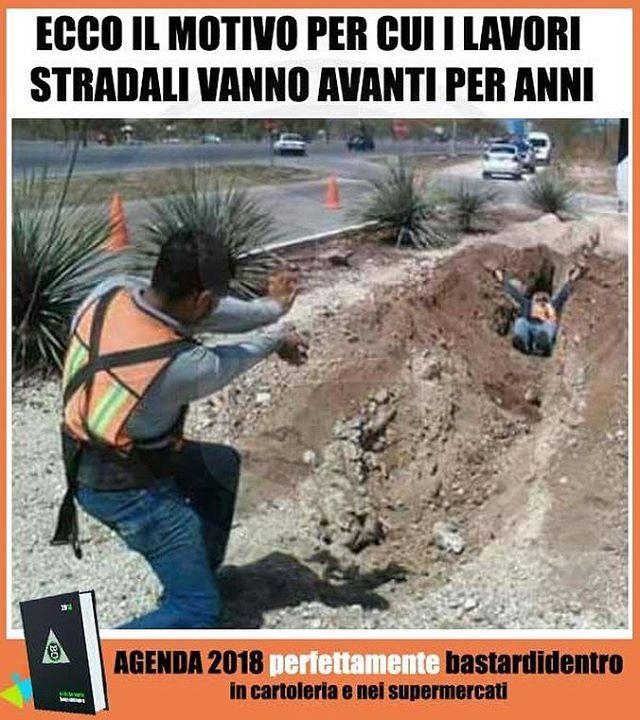Però hanno trovato un modo davvero originale di fare gli scavi! Seguici su youtube/bastardidentro #bastardidentro… www.bastardidentro.it