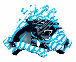 NIKE LOCKUP NFL CAROLINA PANTERS MEN RECEIVER FOOTBALL GLOVES WAS $100