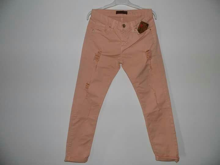 Jeans color pesca Su kristyshop style