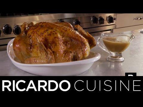 Dinde rôtie farcie aux poires et canneberges | Ricardo Cuisine - YouTube