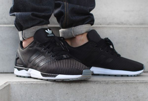 adidas ZX Flux Slip On shoes black grey Stylefile