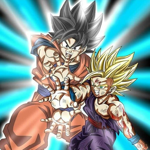 Goku Y Gohan Kamehameha Dragon Ball Super Manga Dragon Ball Gohan Kamehameha