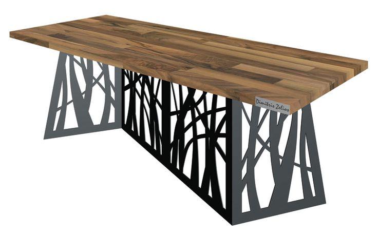 ZigZag Extraordinary Table, Metal & Wood Design By Dimitris Zelios