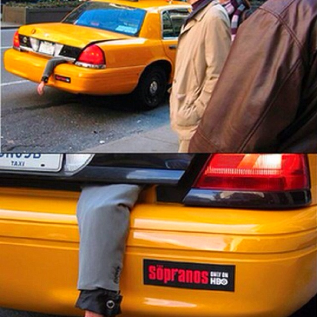 HBO Sopranos taxi campaign in NYC