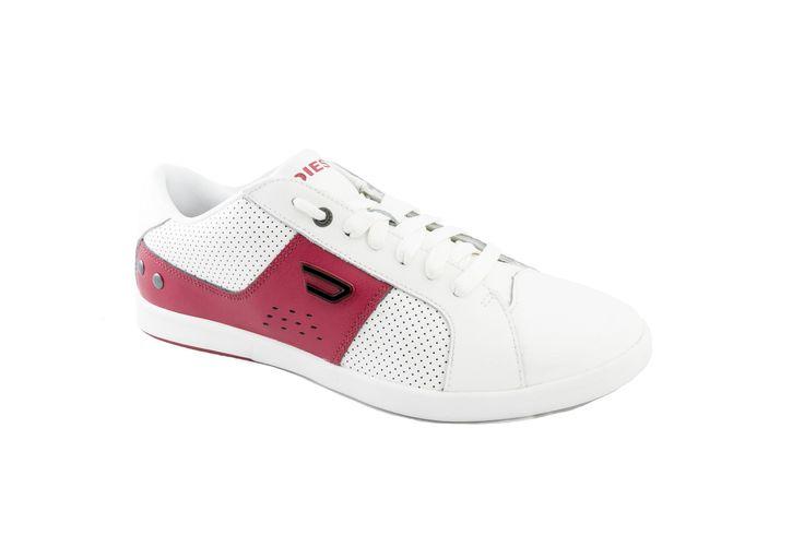 Tenis Diesel Gotcha Y00985 P0521 H5543 Blanco Con Rojo